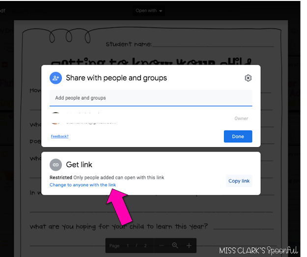 Google Drive Sharable Link