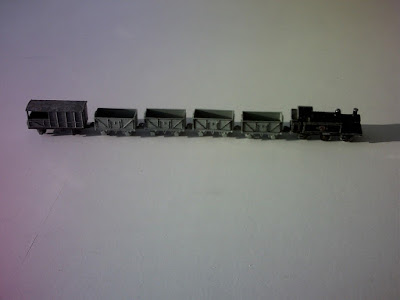 0 - 6 - 0  tank loco , 4 x open wagons , guards wagon