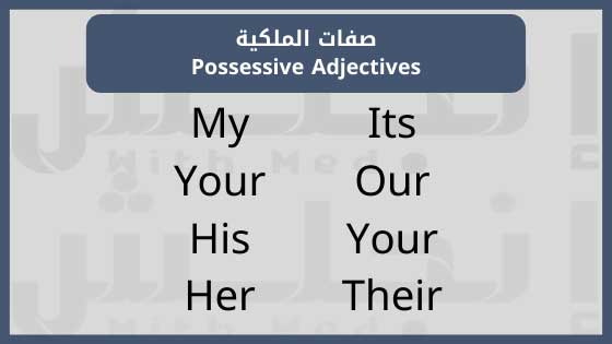 My, Your, His, Her, Its, Our, Your, Their
