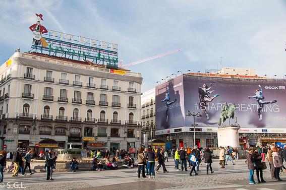 Puerta del sol. Ruta lowcost por Madrid