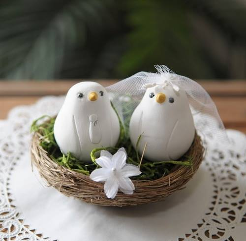love bird wedding cake topper guia da noiva topo do bolo 5607