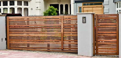 The shape, material and color of the fence in accordance with the character of the home owner