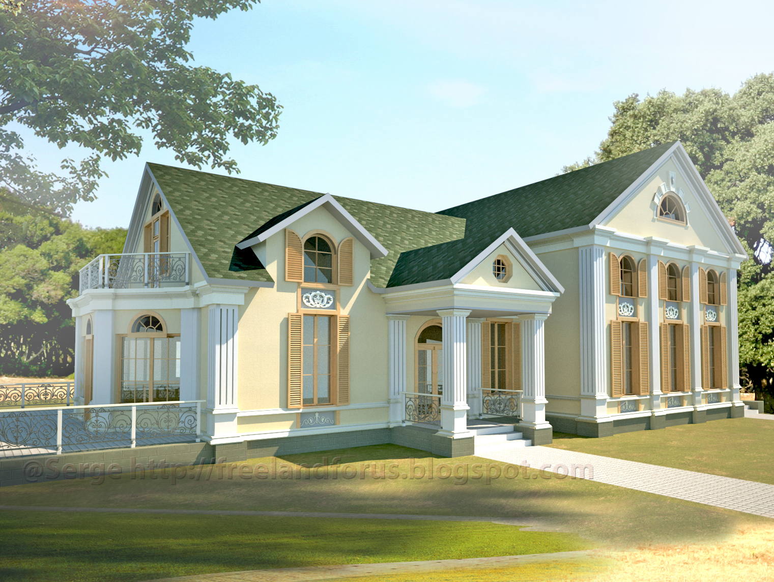 Neoclassical house for Classical style house