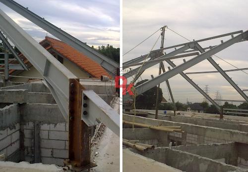 struktur baja untuk atap rumah tinggal