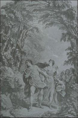 Orfeo ed Euridice - Ilustración de la partitura de París - 1774