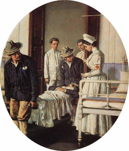 Василий Васильевич Верещагин - В госпитале. 1901