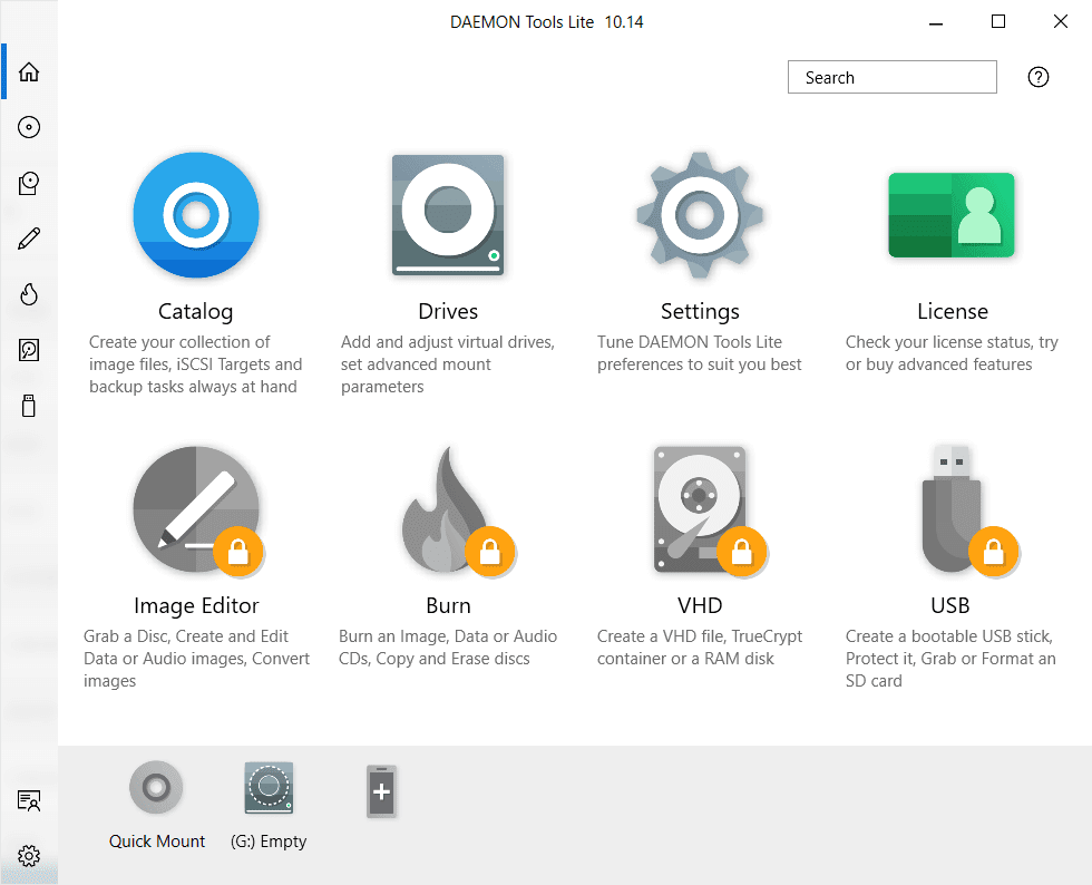 DAEMON Tools Lite Main Interface Screenshot