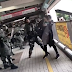 Video: Hong Kong police use pepper spray on a pregnant woman before tackling her to the ground