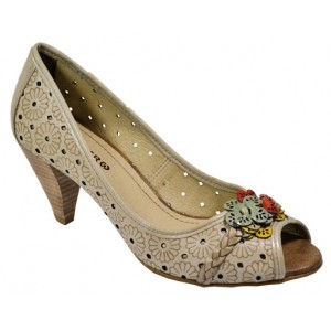 nueva productos dd6bb b3f22 Zapatos Taco Medio Castaño   Tienda De La Moda
