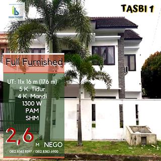 Jual Rumah Second Murah Di Tasbi 1 Medan - Fully Furnished - Mulus Dan Terawat