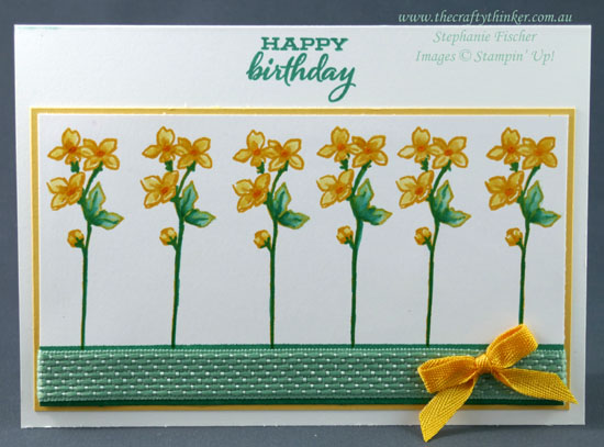 #thecraftythinker #cardmaking #stampinup #fourseasonfloral #sdbh , Four Season Floral, Spring card, Daffodil card, Stampin Dreams Blog Hop, Stampin Up Demonstrator, Stephanie Fischer, Sydney NSW
