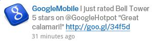 Partagez vos recommandations Google Hotpot sur Twitter.
