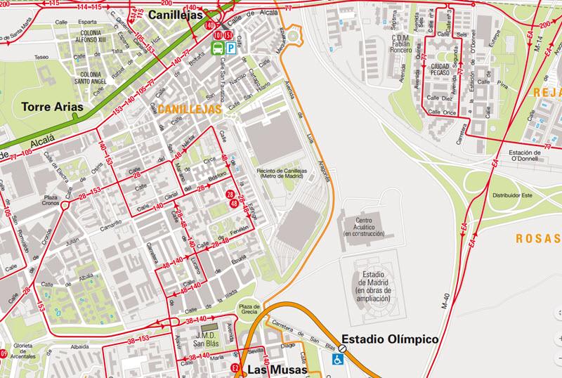 L nea de autob s al estadio wanda metropolitano desde for Puertas wanda metropolitano