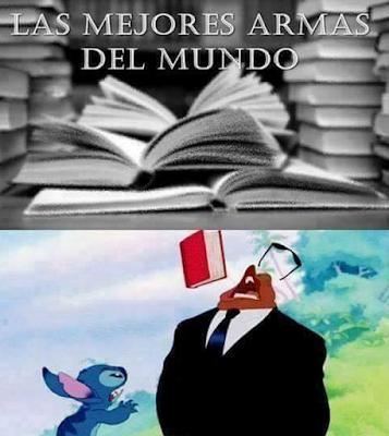 Meme de humor sobre libros