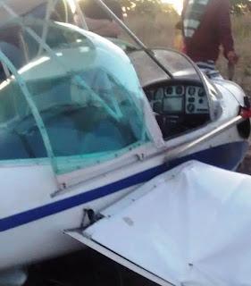 Avião que fez pouso de emergência em Puxinanã saiu de Parelhas, RN; veja vídeo