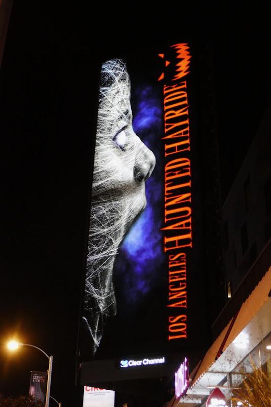 Los Angeles Haunted Hayride 2019 billboard night