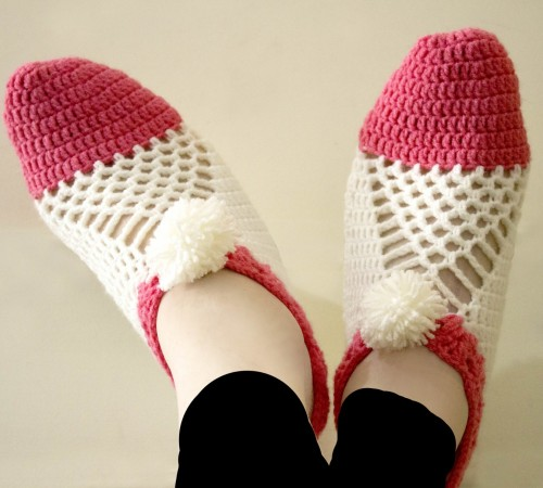 Easy to make Cluster Crochet Slippers - Tutorial