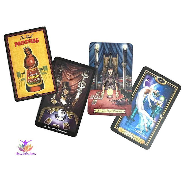 Comparing tarot decks to learn cards