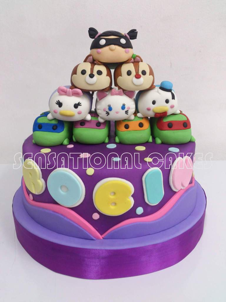 The Sensational Cakes Tsum Tsum Theme 3d Cake Singapore