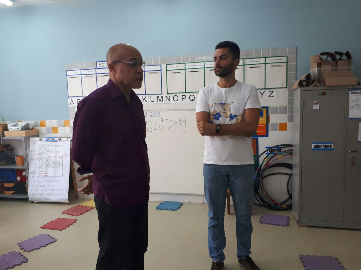 Vereador Washington Uchôa visita Centro Municipal Integrado de Educação Iracema Leite Nader, no Roma 2