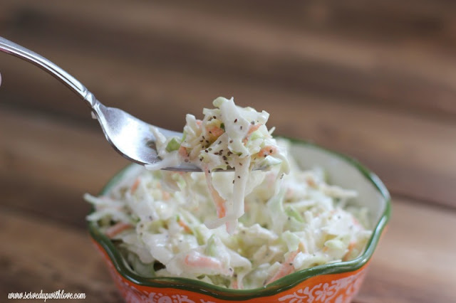 Coleslaw recipe from Served Up With Love