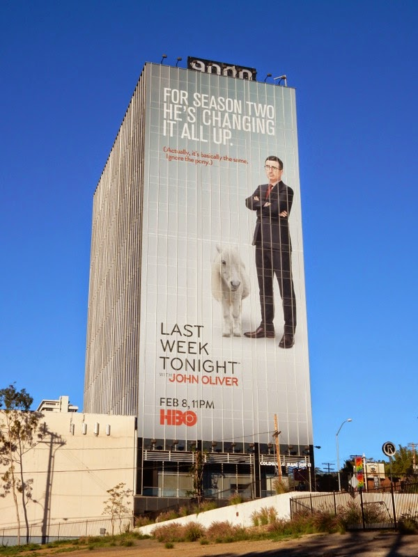 Last Week Tonight with John Oliver season 2 billboard