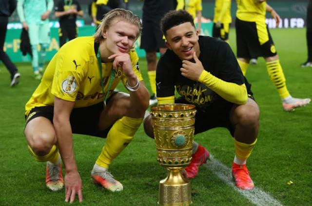 Borussia Dortmund duo Erling Braut Haaland and Jadon Sancho