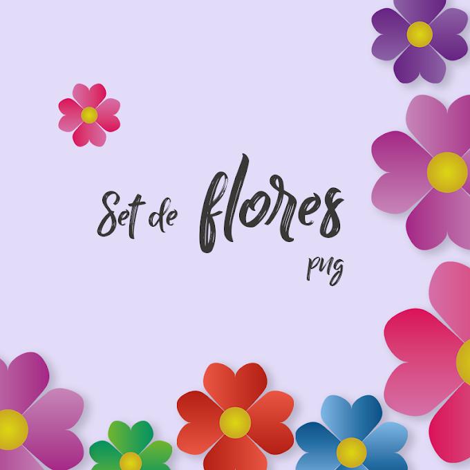 Set de Flores png