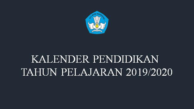 Kalender Pendidikan Tahun Pelajaran 2019/2020 Seluruh Provinsi