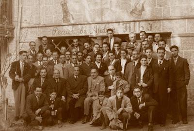 Foto previa a las simultáneas de Àngel Ribera en 1952