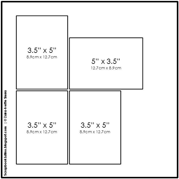 10 técnicas para multiplicar tus bocetos de scrapbooking: Técnica # 2