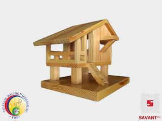 Wooden Nipa Hut Handicraft