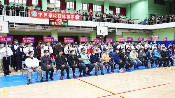 彰化縣高中籃球聯賽在彰中 漂亮寶貝錢薇娟助陣