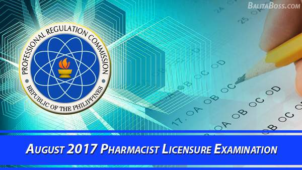 Pharmacist August 2017 Board Exam