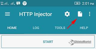 Cara Mengimport / Memasukan Config Http Injector Buatan Orang lain