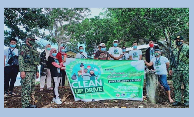Bacolod Kalawi leads a Clean Up Drive in Lake Lanao