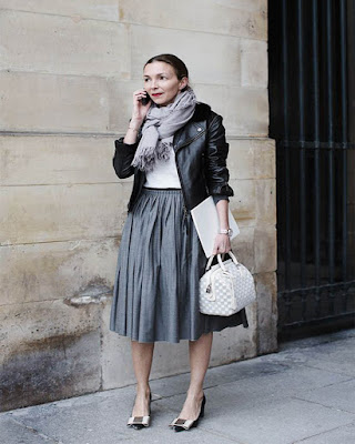 Winter outfits midi skirts ideas