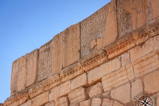 Detalle Arco del triunfo de Caracalla, Volubilis