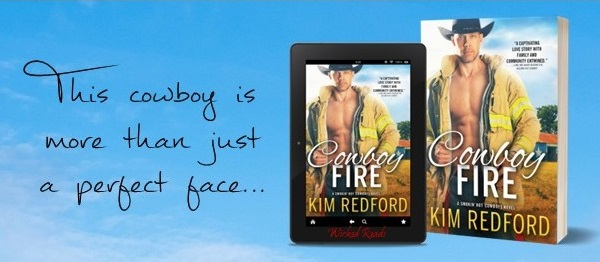This cowboy is more than just a perfect face... Cowboy Fire by Kim Redford.