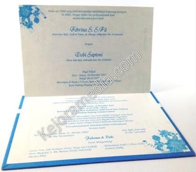 undangan satu warna biru murah