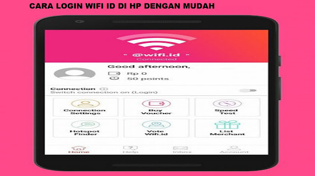Cara Login Wifi ID di HP