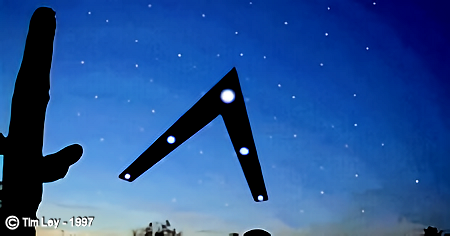 The Arizona UFO Flyover Event Called 'Phoenix Lights' By Tim Ley