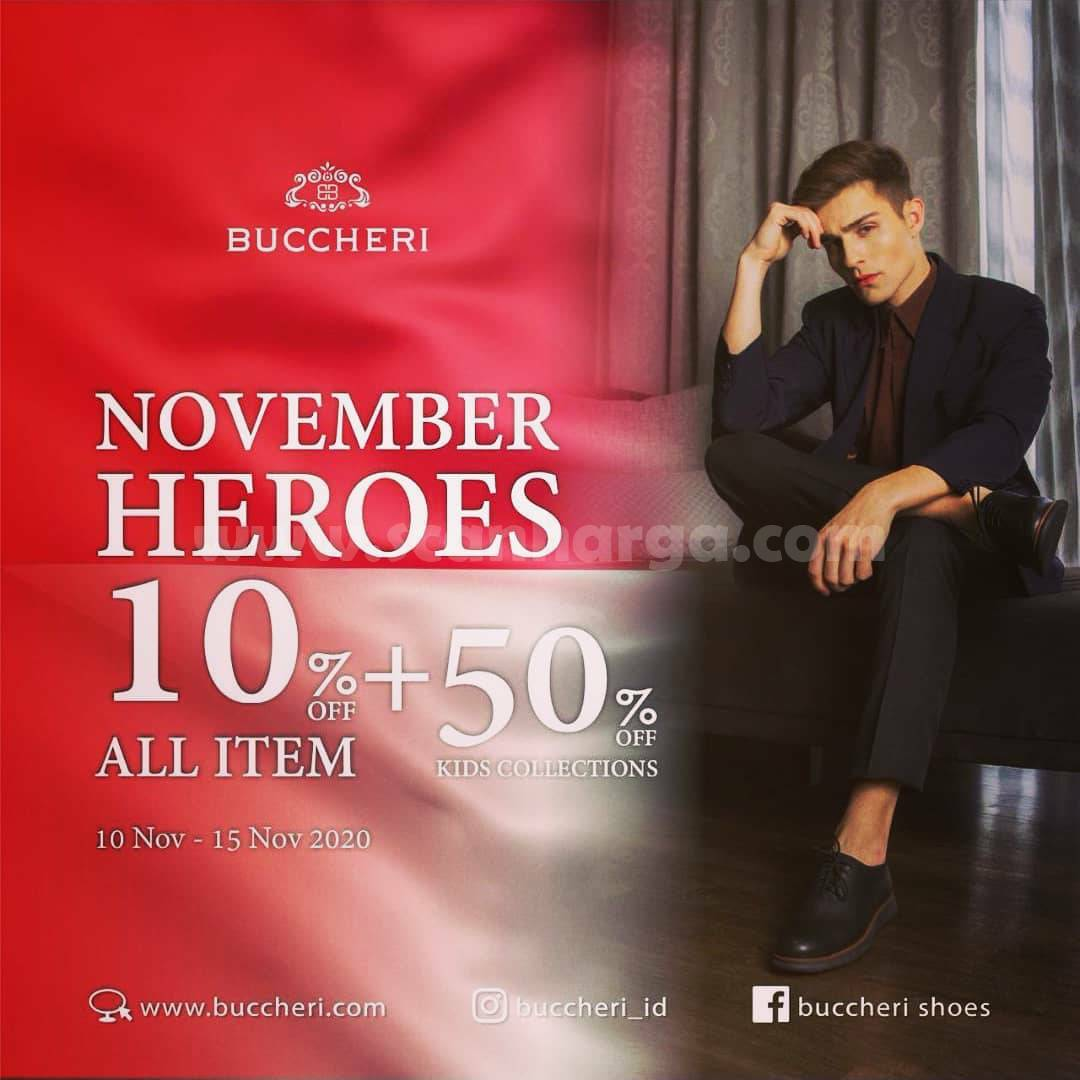 Promo Buccheri November Heroes Disc 10% All item + 50% Kids Collections