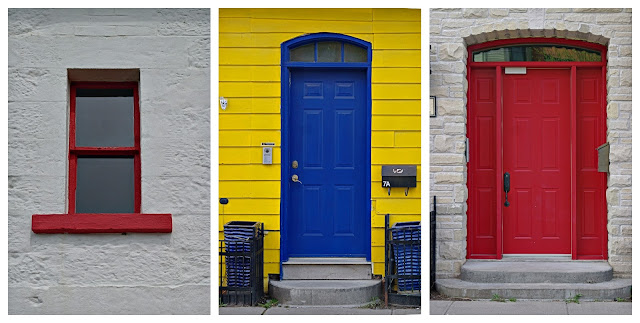 Colourful doors and windows in Cobourg, Ontario...