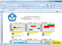 Aplikasi Kalender Pendidikan Otomatis 2016/2017 Terbaru