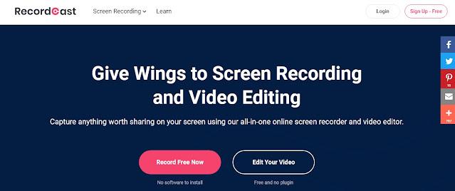 RecordCast - Online Screen Recording