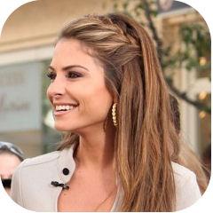 Peinados A La Moda Trenzas Con Pelo Suelto Tendencias En Peinados - Peinados-con-trenzas-y-pelo-suelto