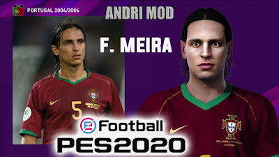 PES 2020 Faces Fernando Meira by Andri Mod