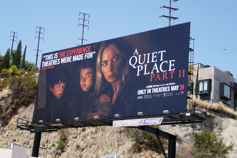 A Quiet Place Part II movie 2021 billboard