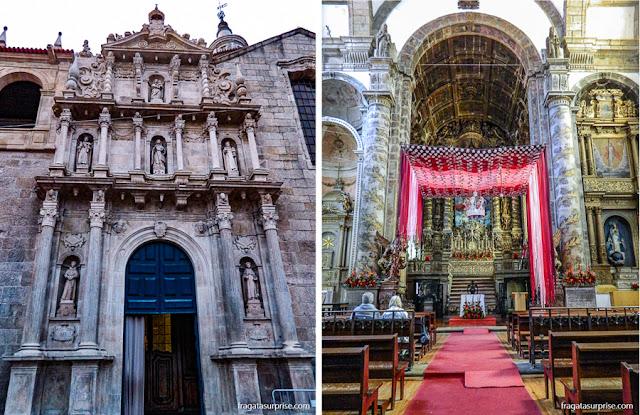 Fachada e altar-mor da Igreja de São Gonçalo, Amarante, Portugal